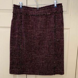 Ann Taylor wool tweed pencil skirt